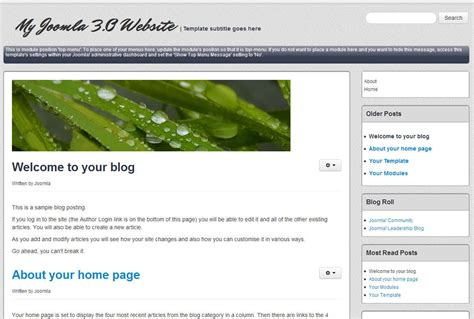 joomla 3 1 blog template inmotion hosting