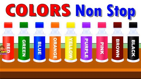learning colors colors for children to learn with color roller bottle