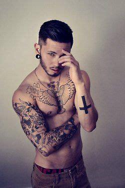 nipple tattoo minnesota model tattoos inked asian male model shirtless abs pecs