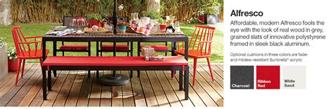 alfresco outdoor furniture alfresco outdoor furniture collection crate and barrel
