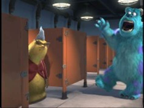 monsters inc bathroom scene monsters inc blu ray dvd review