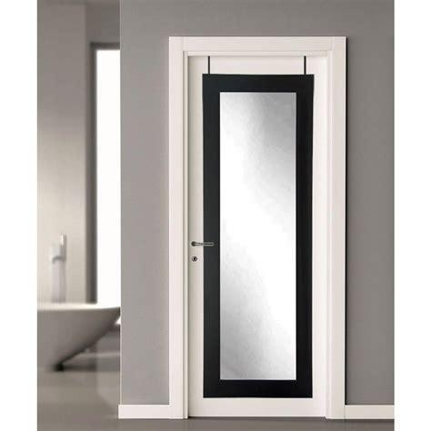 bathroom door mirror 21 5 in x 71 in black over the door full length framed