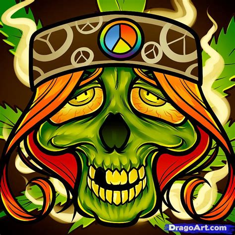 hippie drawing how to draw a hippie skull hippie by