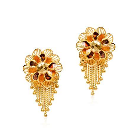 22k gold earrings designs senco gold 22k yellow gold drop earrings