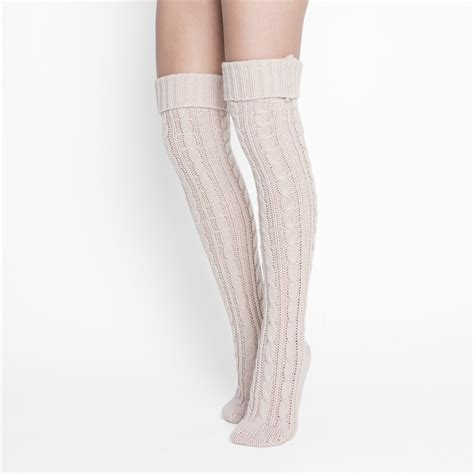 cable knit knee socks cable knit the knee socks