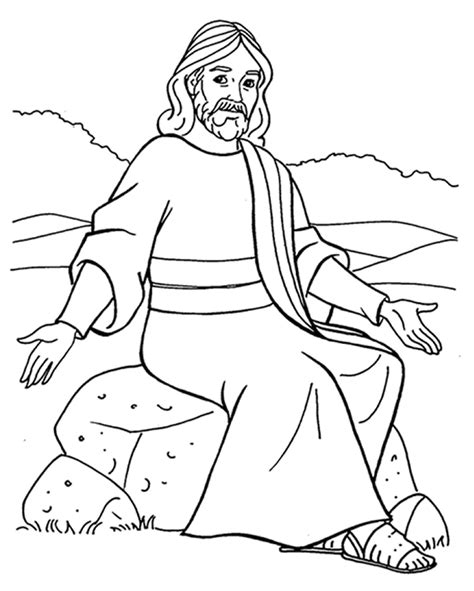 Jesus Teaching Coloring Page Az Coloring Pages