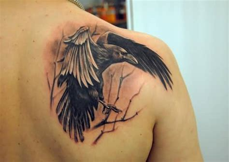 raven shoulder tattoo 75 stunning collection golfian