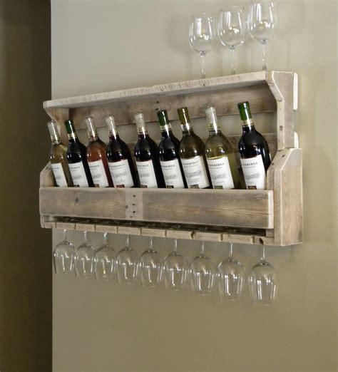 Repurposed Wine Rack by Wine Rack Reclaimed Pallet Wood Pallet Wine Rack Unique