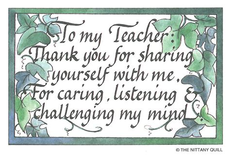 quot for a caring teacher quot season s greetings printable card thank you teacher quotes from students quotesgram