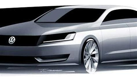 new volkswagen sedan vw new mid size sedan sketch revealed