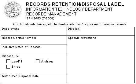 box label template records management program implementation dakota itd