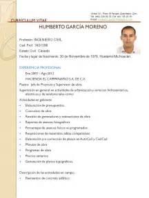 Plantilla De Curriculum Vitae Ingeniero Curriculum Vitae De Ingenieros Ejemplos
