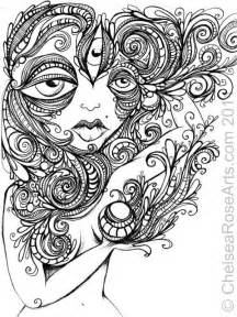 psychedelic coloring book challenging trippy coloring page free for adults
