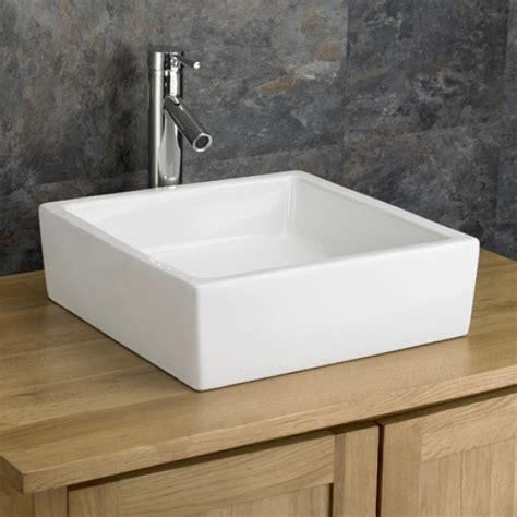 Countertop Wash Basins Uk by Strong Lines Bergamo Countertop Square Basin Clickbasin