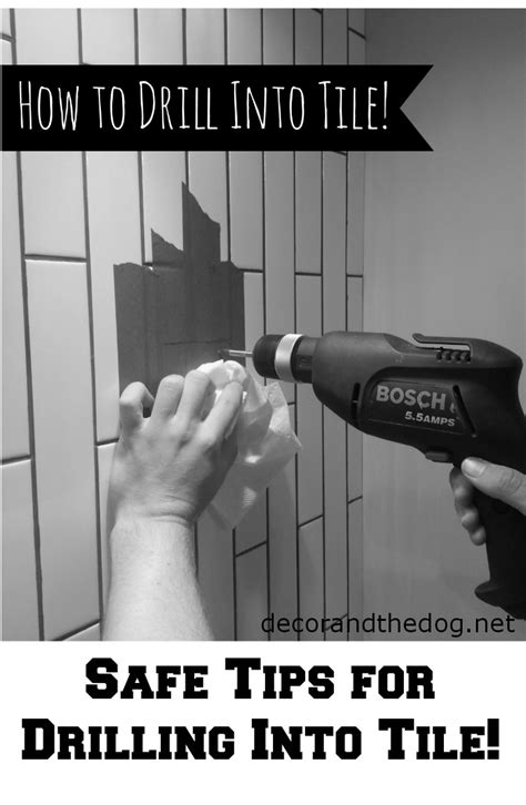 how to drill through bathroom tiles how to drill into tile decor and the