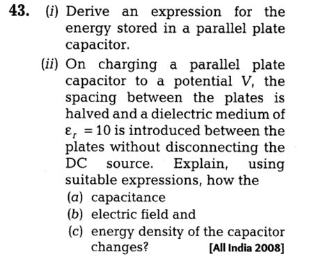 expression for energy stored in capacitor and inductor derive an expression for energy stored in a capacitor 28 images i need to solve this problem