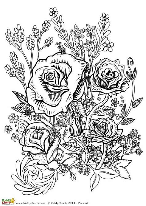grown up coloring pages of flowers four free flower coloring pages for adults