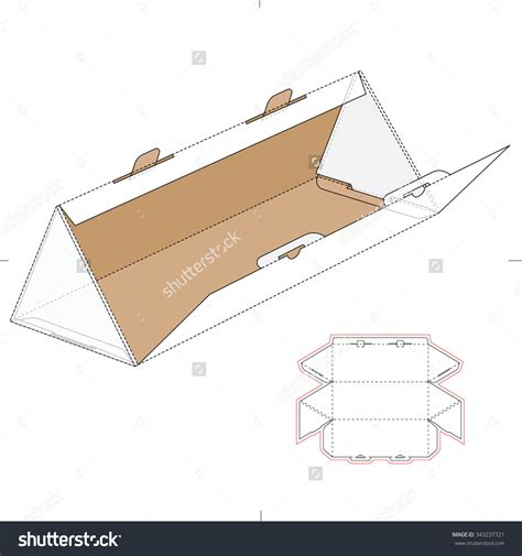 Package Design Layout Vector | origami diy triangle gift boxes lines across triangle box