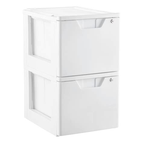 Stackable File Drawers by White Stackable Locking File Drawer The Container Store