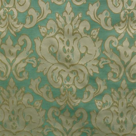 Blue Green Upholstery Fabric by Fresco Turquoise Blue Green Woven Floral Upholstery Fabric