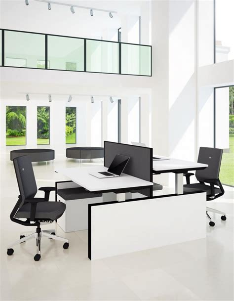 sit stand office desk progress sit stand electric double bench desk office