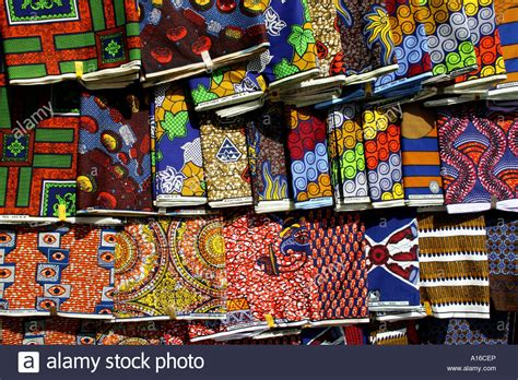 african cloth for sale at lome central market togo