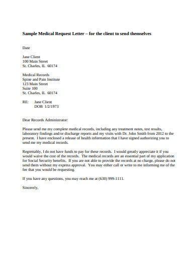 medical request letter templates premium