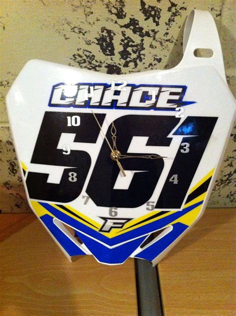 motocross bike numbers motocross number plate clocks by bmproducts on etsy