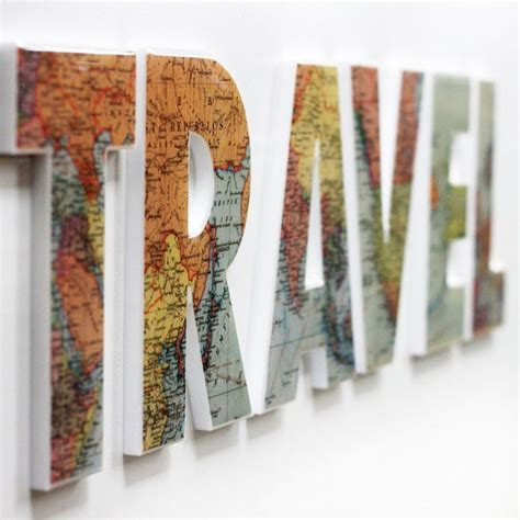 travel decor these hand crafted letters are constructed with an acrylic