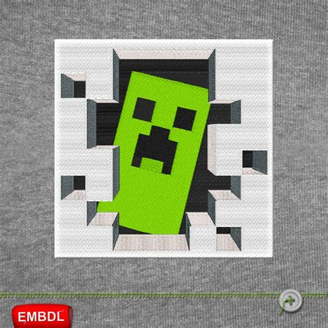 minecraft creeper embroidery design embroiderydownload