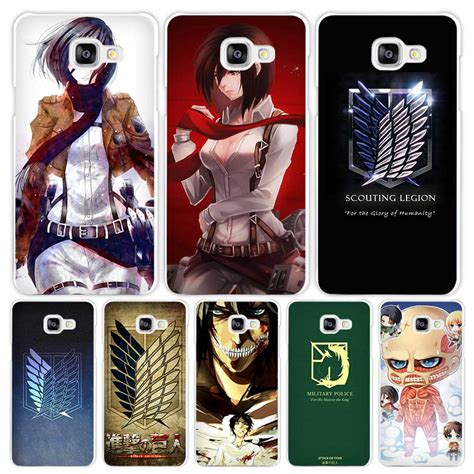attack on titan anime white coque shell cover phone cases for samsung galaxy a3 a5 a7