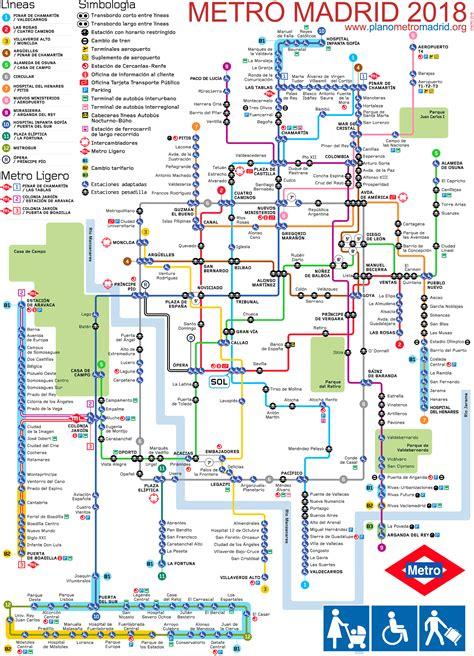 plano metro de madrid madrid metro map updated 2017