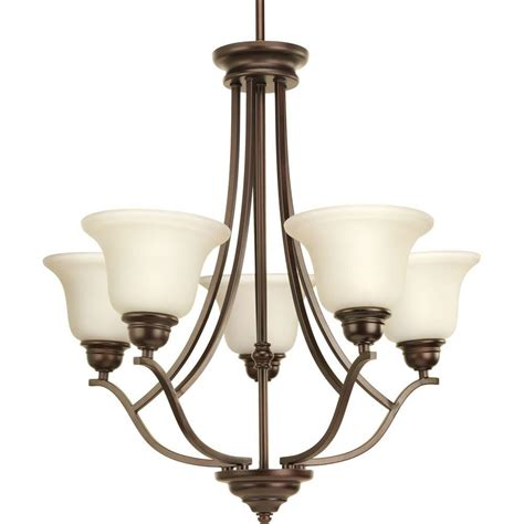 Bronze Chandelier Lighting Progress Lighting Spirit Collection 5 Light Antique Bronze Chandelier P4605 20 The Home Depot