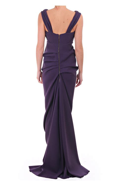 Grape Umbrella Dress kevan jon kevan jon sian drape dress brummel wool grape kevan jon from blueberries uk