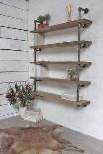 reclaimed scaffolding and steel pipe shelving