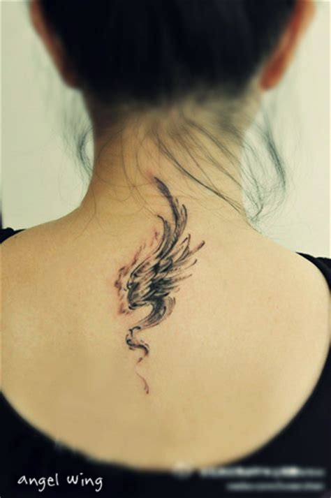 small angel wing tattoos on back wings pictures to pin on tattooskid