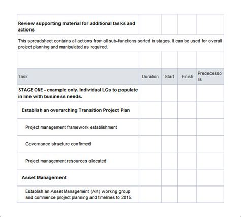 11 transition plan templates free sle exle