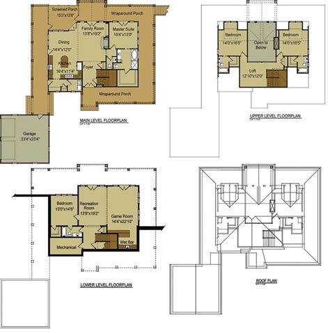 walkout basement floor plans open floor plan with wrap around porch mountain house