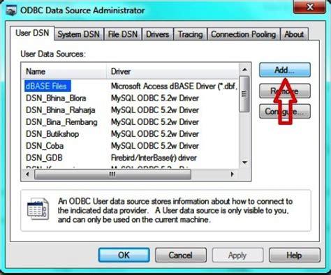 cara membuat koneksi database mysql menggunakan odbc source code aplikasi cara membuat laporan dengan crystal