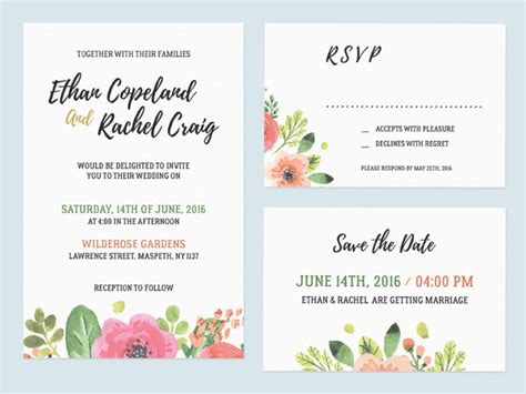 Wedding Invitation Mockup Free by Wedding Invitation Set Free Mockup Mockup Free Downloads