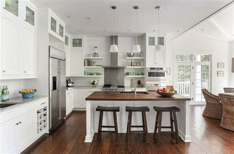 kitchen cottage cottage kitchen with pendant light by diament builders