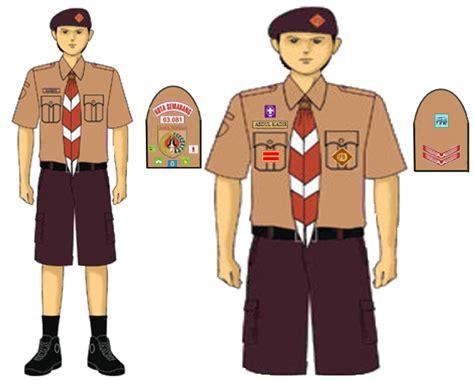 pakaian seragam penggalang putra media belajar