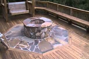 Wooden Fire Pit - building a fire pit on a deck youtube