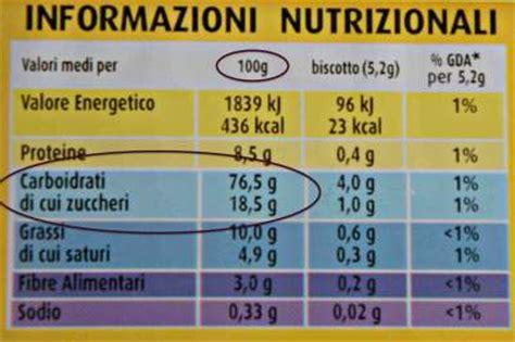Gelato E Autosvezzamento by Tabella Nutrizionale Oro Saiwa Ovali Mini Autosvezzamento It