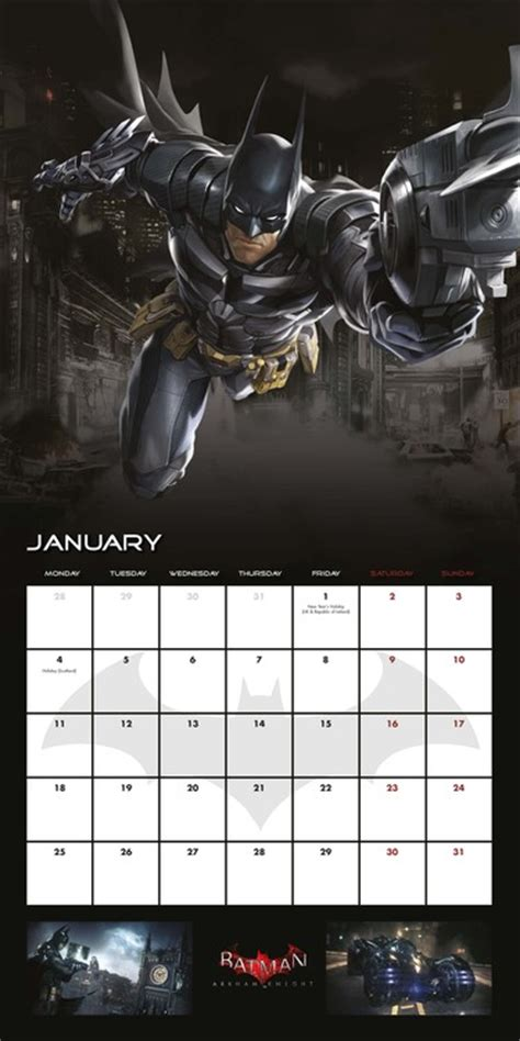 Calendar 2018 Batman Batman Arkham Calendars 2018 On Europosters