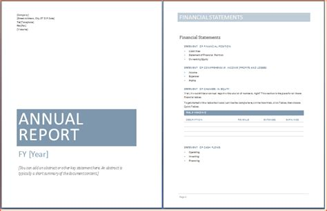 word annual report template 6 word report templates bookletemplate org