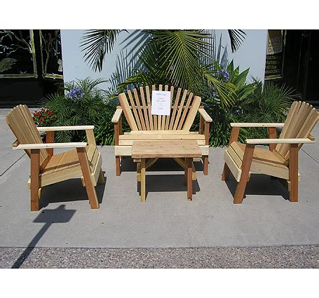 Wood patio furniture sacred space imports