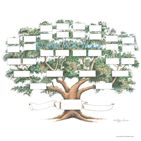 family tree scrapbook chart 12x12 inch 5 6 generations