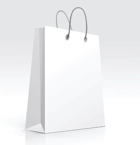 free elegant vector paper shopping bag design template 02