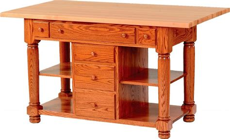 amish furniture kitchen island amish turned leg kitchen island with six drawers
